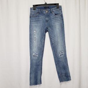 WHBM Distressed Slim Light Wash Jeans